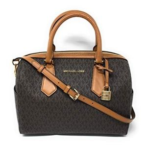 Michael Kors Hayes Large Duffle bag Brown NWT